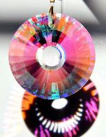 Round Sunburst Facet 40mm Crystal Clear AB Prism SunCatcher Pendant 1-1/2 inch