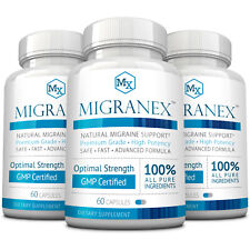 Migranex -  Migraine Relief & Support - Reduce Severity and Pain - 360 Capsules
