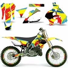 Graphic Kit Suzuki RM 125 RM 250 Dirt Bike Decal MX Motocross Deco 1989-1992 MON