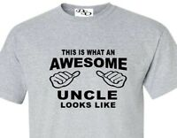 This Is What An Awesome Uncle Looks Like T-shirt 16 Shirt Colors Size Sm - 6X