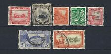NEW ZEALAND 1935-36: 7 Values incl. 5d SG563 - GU / FU CV £66.50