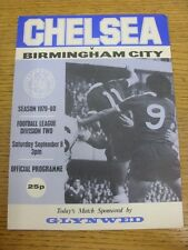 08/09/1979 Chelsea v Birmingham City  (team changes). Thanks for viewing this it