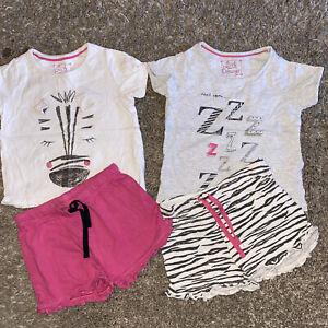 2 Pair Of Girls Pyjamas Age 3-4 Years