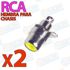 2x Conector RCA Hembra CHASIS AMARILLO Soldar audio video