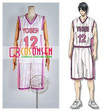 Kuroko's Basketball Yosen High Tatsuya Himuro Cosplay Costume Pink White Jersey