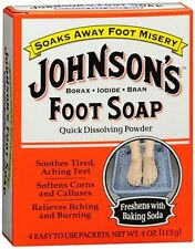 JOHNSONS Foot Soap Powder Packets 4 Each