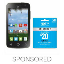 Net10 Alcatel POP Start 2 + $20 Unlimited Plan - Unlimited Talk, Text, 1GB Data