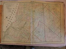 1874 original Beers Map Brooklyn Bushwick Bedford-Stuyvesant East Williiamsburg
