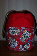 Day of the Dead Red  Sugar Skull  BINGO TOTE BAG [plus inside pocket]]