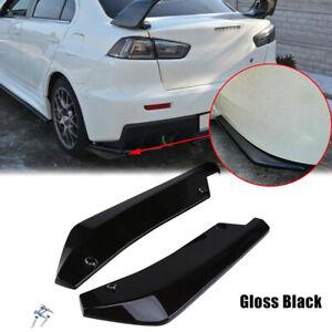 Universal 2Pcs Rear Bumper Lip Wrap Angle Diffuser Splitters Canard Protector