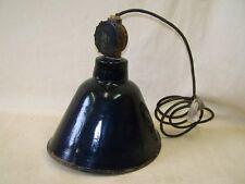 Vecchio Lampada Smaltata Art Deco da fabbrica Design lampada,ovale,Bauhaus Stile