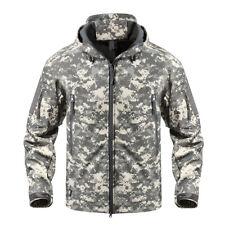 TACVASEN Shark Skin Soft Shell Mens Military Jackets Waterproof Tactical Jacket Green CP 3xl