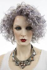 Silver Gray and Light Purple Mixed Medium Vivica Fox Wavy Curly Wigs