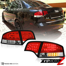 2005-2008 Audi A4 B7 [EURO RED] 4PC Rear Brake LED SMD Tail Lights Lamp Assembly