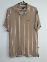 Barney Cools Men's Short Sleeve Button Up Striped Shirt Size M