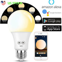 E27 Wifi Smart LED Light Bulb Dimmable Lamp For Alexa Google Home CW 2700K-6500K