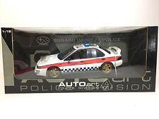Subaru Impreza Police Car UK #118 AUTOart Police Division 1:18 78651