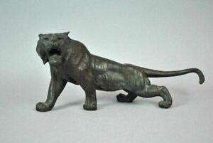 Japanese Bronze Okimono of a Tiger signed