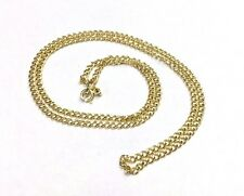 """Solid 14K Yellow Gold 18"""" 2.5mm Shimmering Cuban Link Chain Necklace 