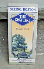 1930 Gray Line Bus Boston Sightseeing Brochure & Map