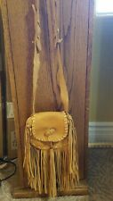 Mountain man deer leather fringe possible bag with two pockets.