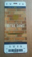 2018 Notre Dame Fighting Irish vs Florida State Football Plastic Ticket