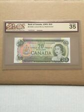 1969 $20 BANK OF CANADA *YA REPLACEMENT BANKNOTE BCS GRADED VF 35