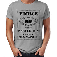 Made in 1966 T-Shirt Born 50th Year Birthday Age Present Vintage Funny Mens Gift