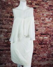 Vince Camuto Ivory  Lace Chiffon Detail Shift Dress Size 4