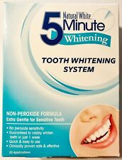 Natural White 5-Minute Tooth Whitening System Non-Peroxide Formula 1 kit
