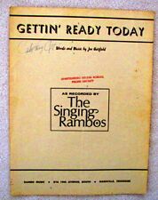 Gettin' Ready Today - Sheet Music - Copyright 1969.