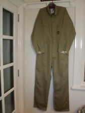 king gee coveralls overalls cover alls over khaki cotton old stock chest 105