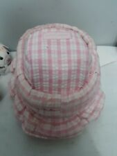 Penelope Peapod Pink Check/floral Bassinet Basket Purse for dolls 5-7in