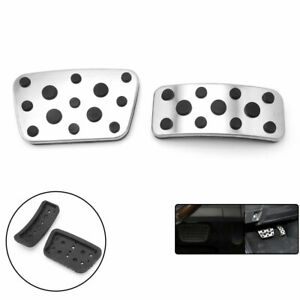 For Lexus RX SUV Accelerator Gas Brake Pedals Cover Stainless Steel Pads 2PCS