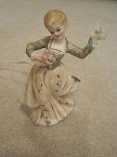 Vintage girl porcelain figure night light #6011