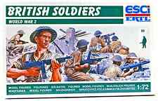 ESCI ERTL #200 - 1/72 scale World War Two British Soldiers - mint boxed set