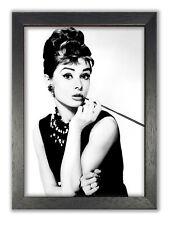 Audrey Hepburn British Actress Breakfast At Tiffany's Vintage Photo Poster