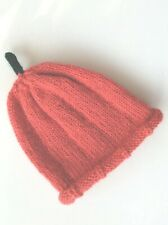 """Lovely Hand Knitted """"Pumpkin"""" Baby Hat, Age 0-6 Months, BNWOT,"""