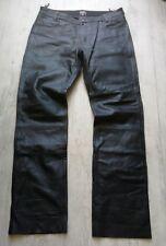 Polo Motorradhose Leder schwarz Größe 56 neu Stiefelhose