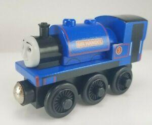 2003 Thomas & Friends Wooden Railway Sir Handel #3 Engine Train 2000WJ00 Blue