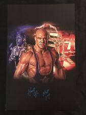 WWE Legend KURT ANGLE Hand Signed 11x17 POSTER With HOF 17 Inscription AUTO