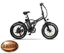 ICON.E Pure Black Fat E-Bike 250 Watt - Bicicletta Elettrica City Pieghevole