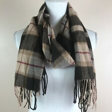 "D & Y Fringed Scarf Softer Than Cashmere? Brown Plaid 62""+  x 11½"" 100% Acrylic"