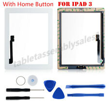 Touch Screen Glass Lens Digitizer Replacement for iPad 3 White Tools and Home