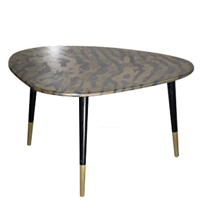 """Coffe table """" Brass zebra"""", brass table, metall table"""