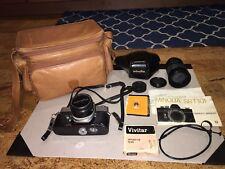 vintage Minolta SR-T 101 35mm film Camera Manual, Case, And Accessories 2293192
