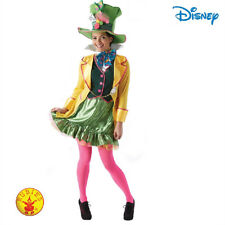 Cl611 Ladies Mad Hatter Tea Party Alice in Wonderland Fancy Dress Adult Costume Small 0082686002424