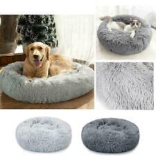 Pet Dog Cat Calming Bed Comfy Shag Warm Fluffy Bed Nest Mattress Donut Pad UK
