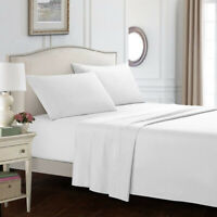 1800 Count King Size 4-Piece Bed Sheet Sets With Fitted,Flat,Pillowcases White