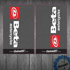 BETA Carbon Upper Fork Graphics - CRF KXF RMZ SXF YZF etc Stickers Decals